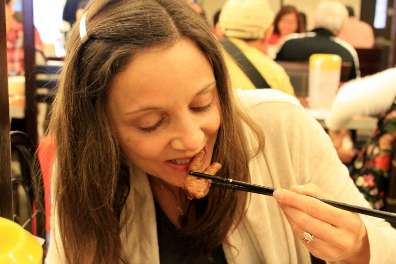Annette White Eating Chicken Feet in Hong Kong | Bucket List