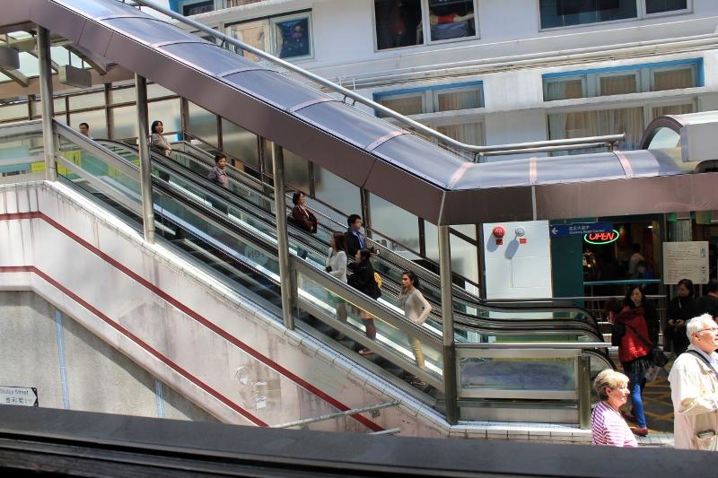 Longest Escalator Mid-Levels in Hong Kong