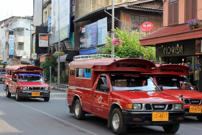 songthaew truck in Chiang Mai