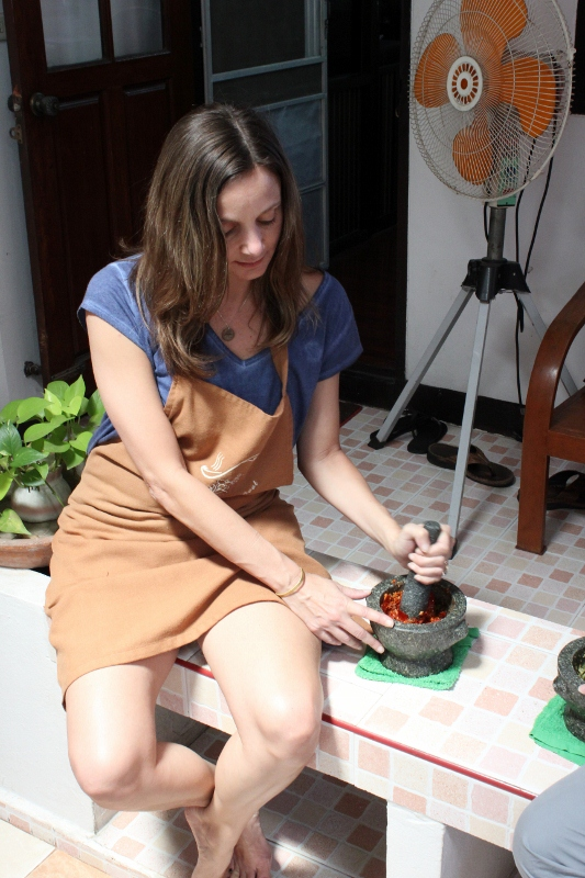 Annette White Making Curry Paste