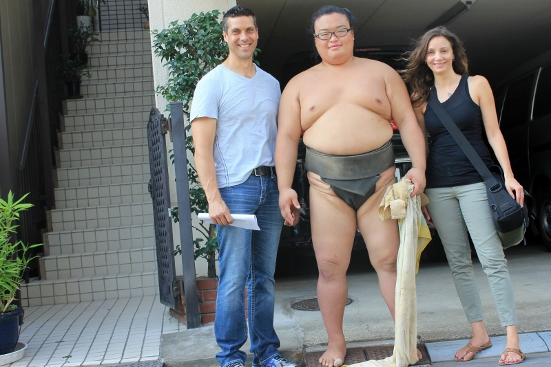 Annette White at Sumo Stable in Tokyo