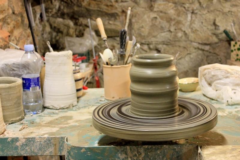 Pottery Wheel in Tuscany, Italy