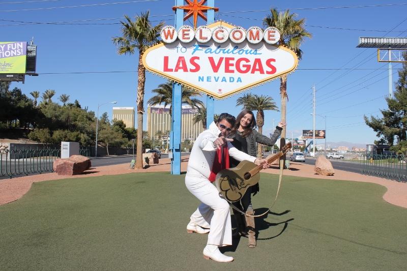 Photo Standing Under Las Vegas Sign - Annette White
