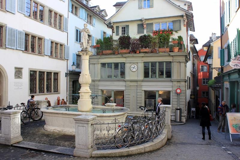 Zurich, Switzerland Water Fountains