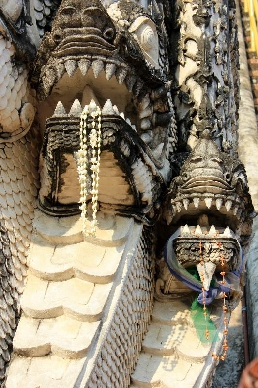 Dragon at Wat Chedi Luang Chiang Mai