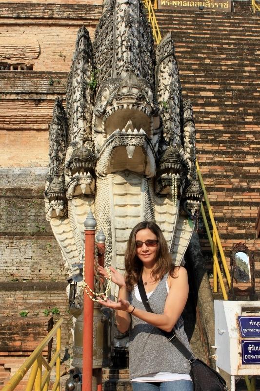 Dragon at Wat Chedi Luang Chiang Mai | Annette White