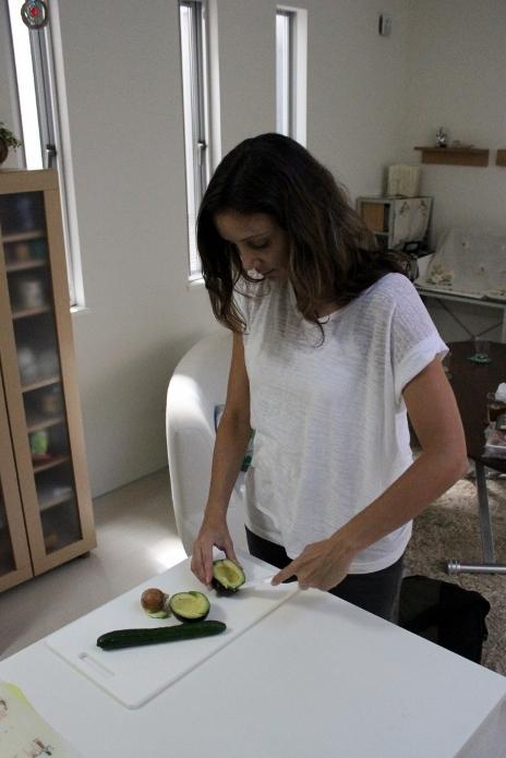 Slicing Avocado for Sushi