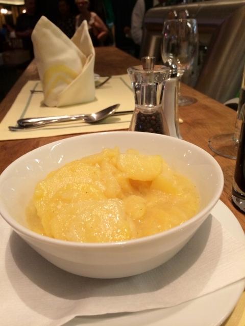 Potato Salad at Wiener Schnitzel Restaurant in Vienna