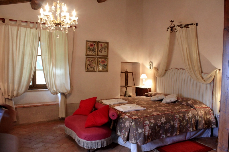 Bedroom at Villa Pipistrelli in Tuscany