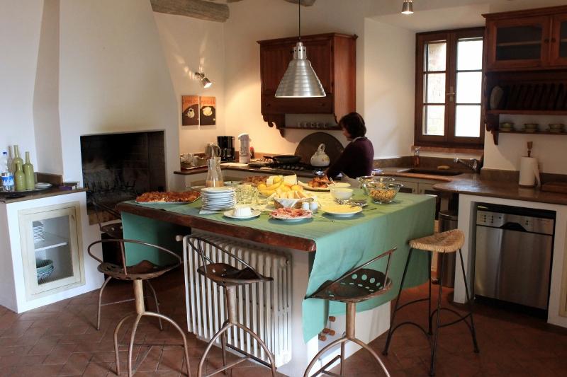Tuscan Kitchen at Bedroom at Villa Pipistrelli in Italy