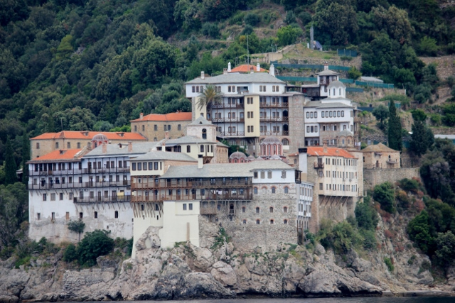 Boat for the Mount Athos Byzantine Monasteries in Halkidiki, Greece