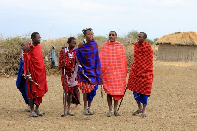 Maasai welcome dance in Tanzania