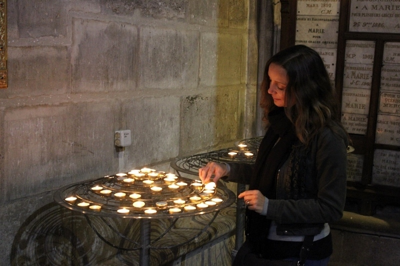 Annette White at Notre Dame Cathedral in Paris, France