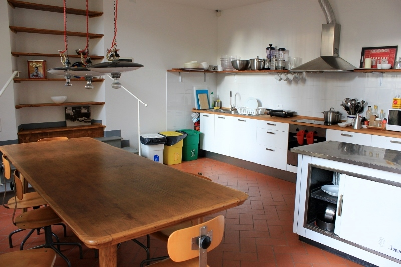 Tasso Hostel Kitchen, Florence, Italy