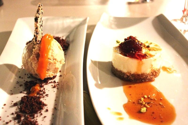 Dessert at Assyrtico in Santorini Greece