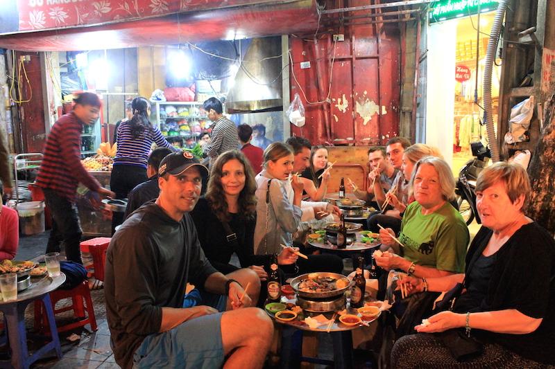 Eating Street Food in Hanoi, Vietnam