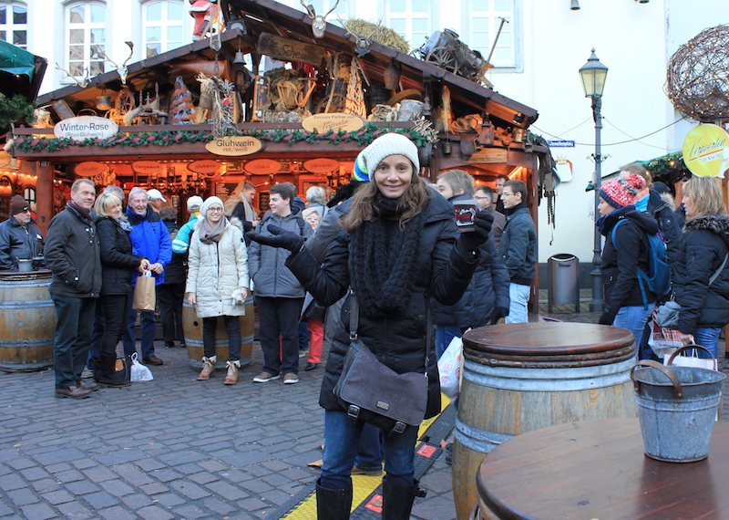 Annette White Drinking Gluhwein on a Rhine River Cruise