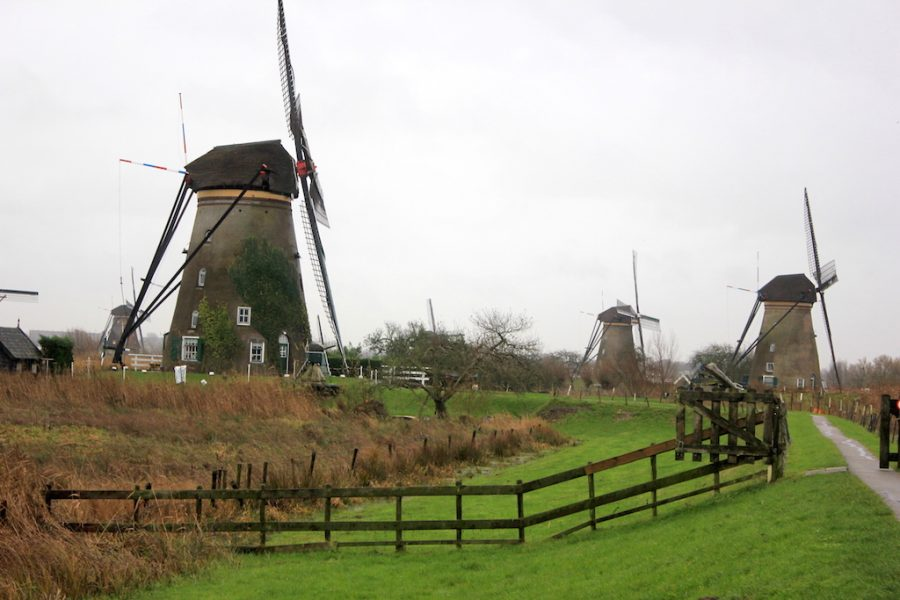 The Kinderdijk windmills in the Netherlands