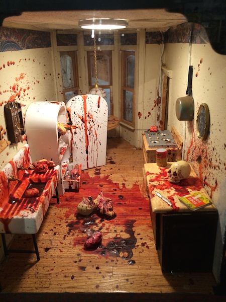 Dollhouse Massacre at the Freaky but true Peculiarium museum in Portland