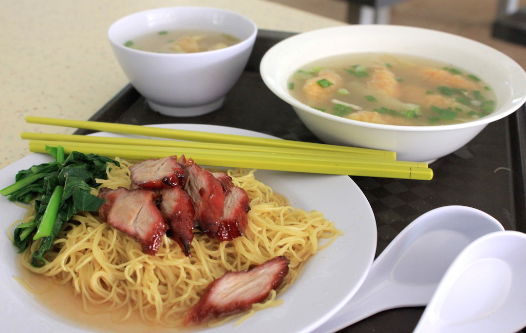 Eating at a Hawker Center in Singapore