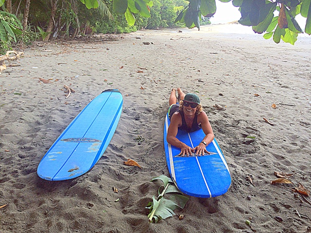 Our learn to surf instruction, Pollo, at Playa Pandulce in the Osa Peninsula of Costa Rica