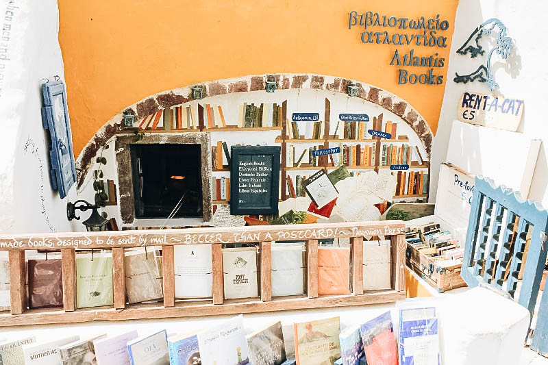 Atlantis Book Store in Santorini