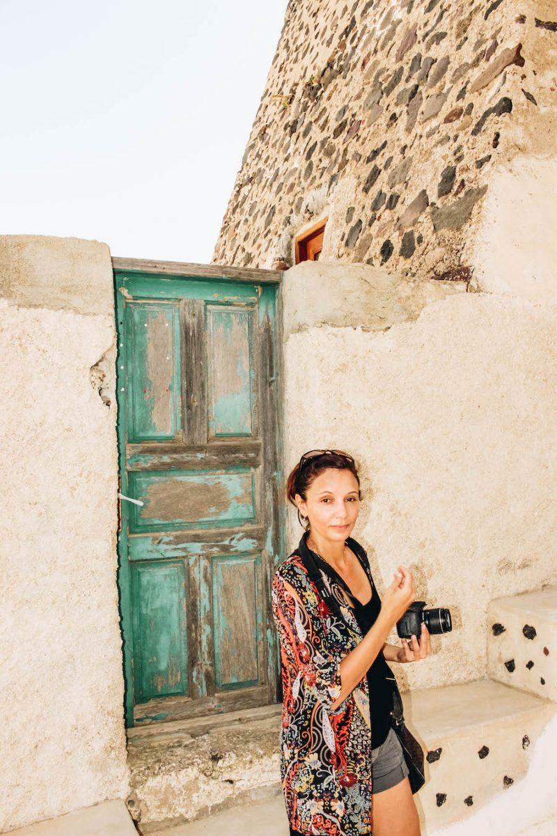 Annette White in Akrotiri