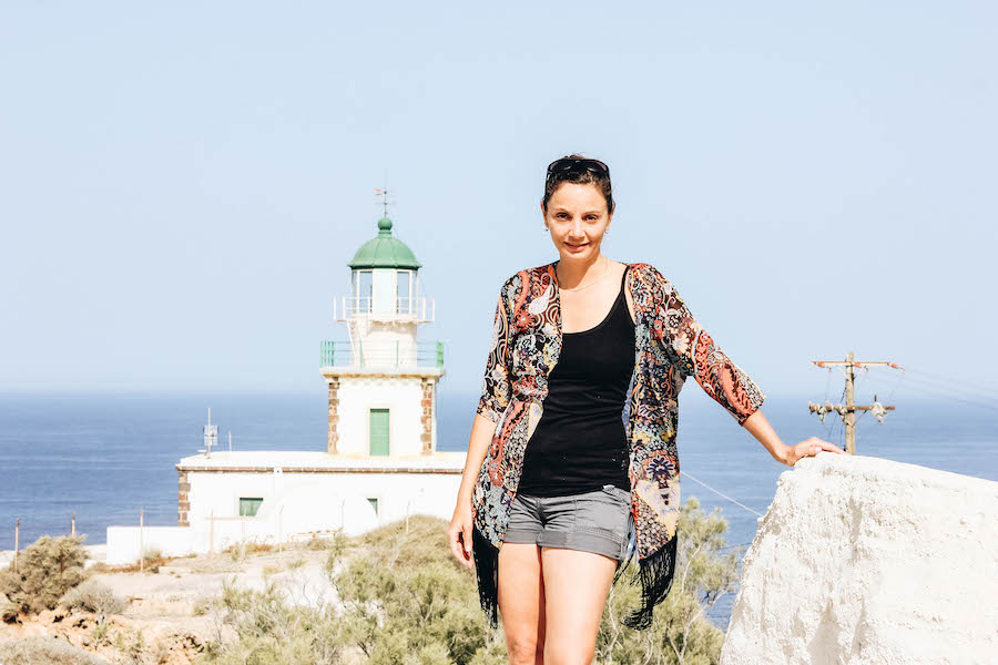 Annette White at Akrotiri Lighthouse