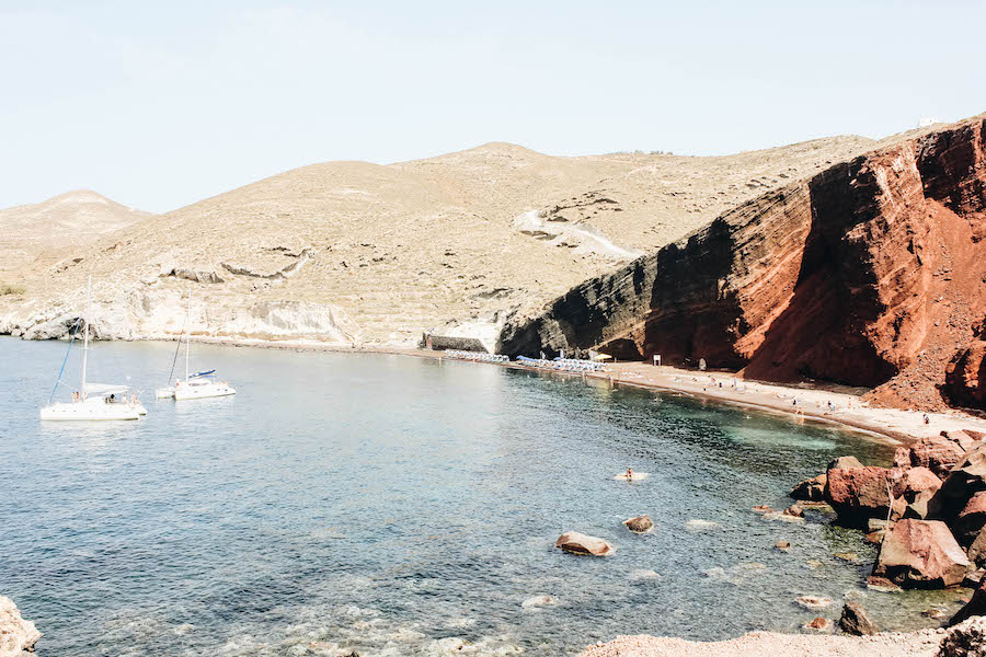 Santorini Island's Red Sand Beach