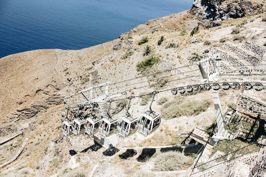 Top Santorini Transportation: Cable Car