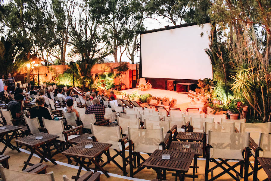 Best Thing to Do in Santorini: Kamari Village Open Air Cinema