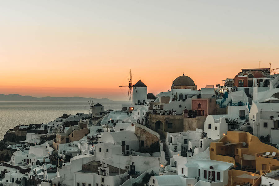 Santorini Sunset from Oia