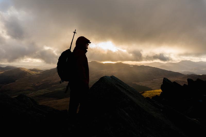 Hiker on a Mountain