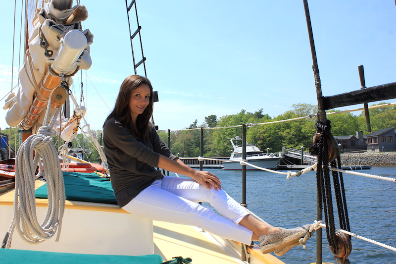 Annette White sailing in Kennebunkport, Maine