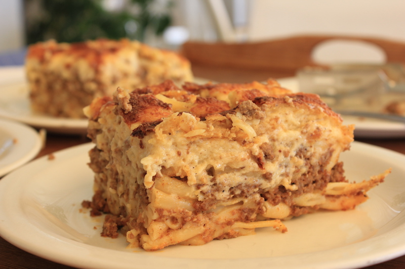 Pastitsio in Greece