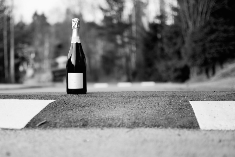 Champagne in the Road
