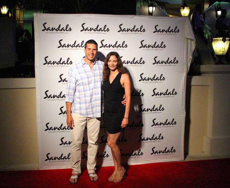 Annette & Peter White at the Sandals Ochi Grand Opening