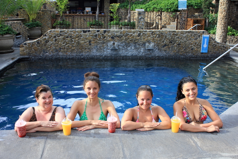 Annette White at the Santa Teresita Thermal Spa in Guatemala