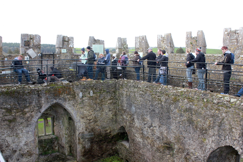 The Line to Kiss the Blarney Stone at Blarney Castle in Ireland