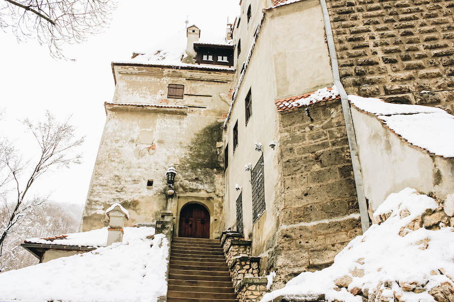 Stairs leading to Bran Castle