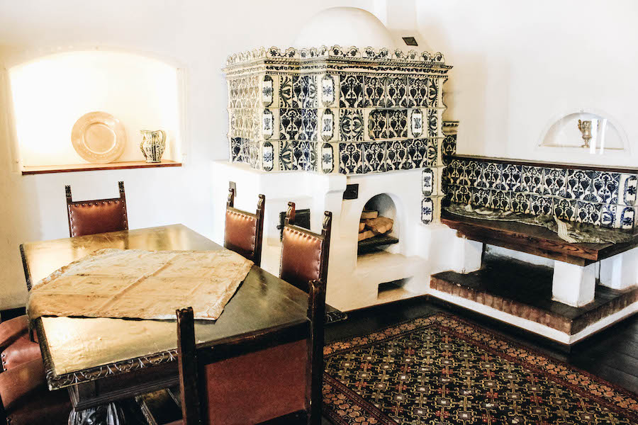 Interior of a room in Bran Castle