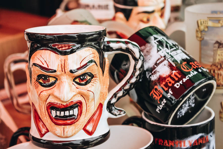 Dracula mug at Bran Castle gift store