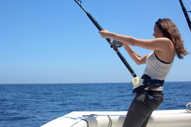 Annette White Sailfishing in Guatemala
