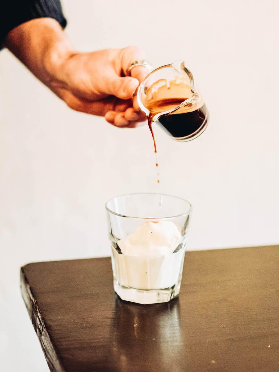 Italian Affogato Espresso Dessert