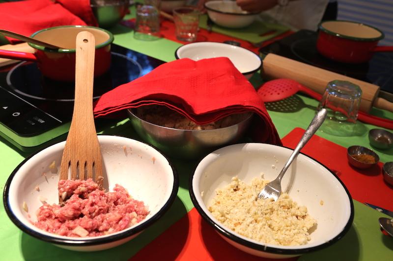Making Pierogi Filling at Polish Cooking Class in Warsaw