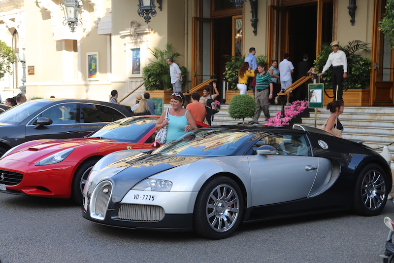 Cars parked in Monaco at the Monte Carlo Casino
