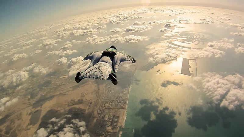 Flying in a windsuit in Dubai