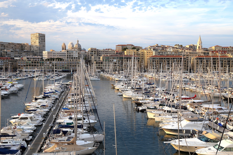 Harbor in Marseille South of France
