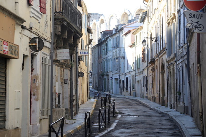 Streets of Arles in the South of France