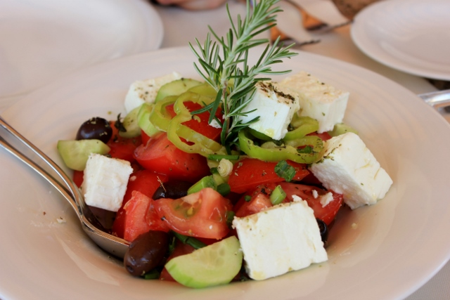Greek Salad with Feta in Greece